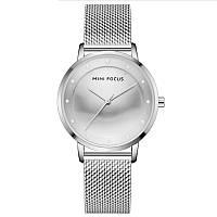 Часы женские Mini Focus 0332L Silver брендовый женский аксессуар сетчатый ремень влагозащита