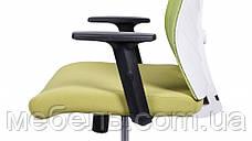 Офисное кресло Barsky BM-06 Mesh White/Green, сеточное кресло, фото 3