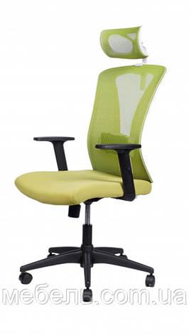 Офисное кресло Barsky BM-06 Mesh White/Green, сеточное кресло, фото 2