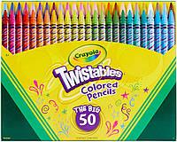 Дитячі кольорові олівці з выкручивающимся стрижнем Twistables 50 кольорів, Crayola крайола