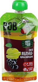 """Фруктовое пюре-смузи """"Яблоко-Черная Смородина"""", 120 г  Bob Snail"""