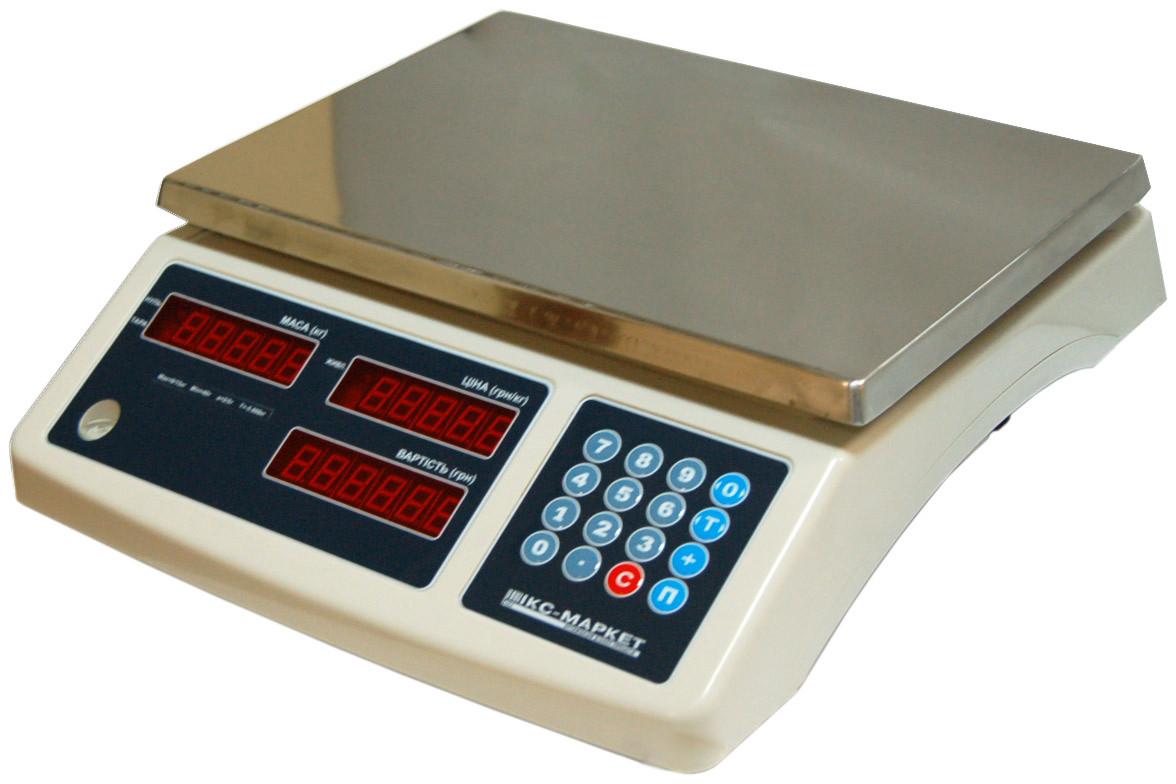 Весы торговые Икс-маркет ICS-30 NT без стойки