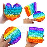 Антистресс Pop it игрушка сенсорная пупырка с пузырьками разноцветная