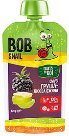 """Фруктовое пюре-смузи """"Груша-Лесная ежевика"""", 120 г  Bob Snail"""