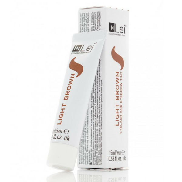 Светло- коричневая краска для ресниц и бровей In Lei, 15 ml