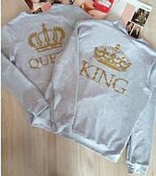 """Батник мужской и женский """"King"""" и """"Queen"""". Оригинальный батник для влюбленной пары. Акция!"""
