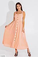 Плаття -сарафан жіночий довге по щиколотку на бретельках на гудзиках з легкого штапелю р-ри 42-48 арт.9001