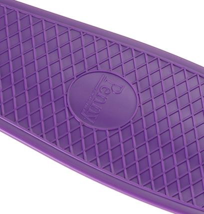 Детский Пени Борд с светящимися колесами. Скейт фиолетовый Penny Board, фото 2