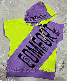 Футболка подростковая на девочку оптом (128-164 см) Турция-72820