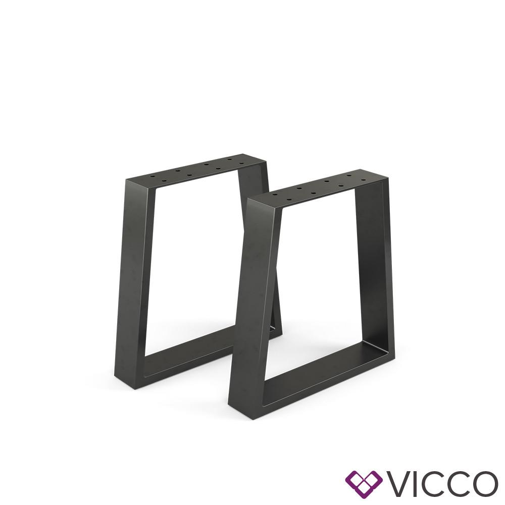 Опори для лавки лофт 40x42 Vicco 2шт, трапеція, чорні