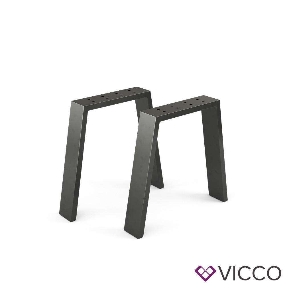 Опори для лавки лофт 45x42 Vicco 2шт, U-форма, чорні