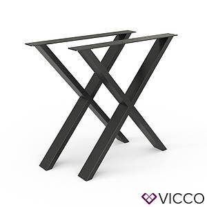 Опоры для стола лофт 70x72 Vicco 2шт, X-форма, черные