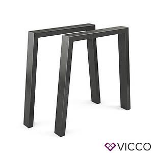 Опоры для стола лофт 75x72 Vicco 2шт, U-форма, черные