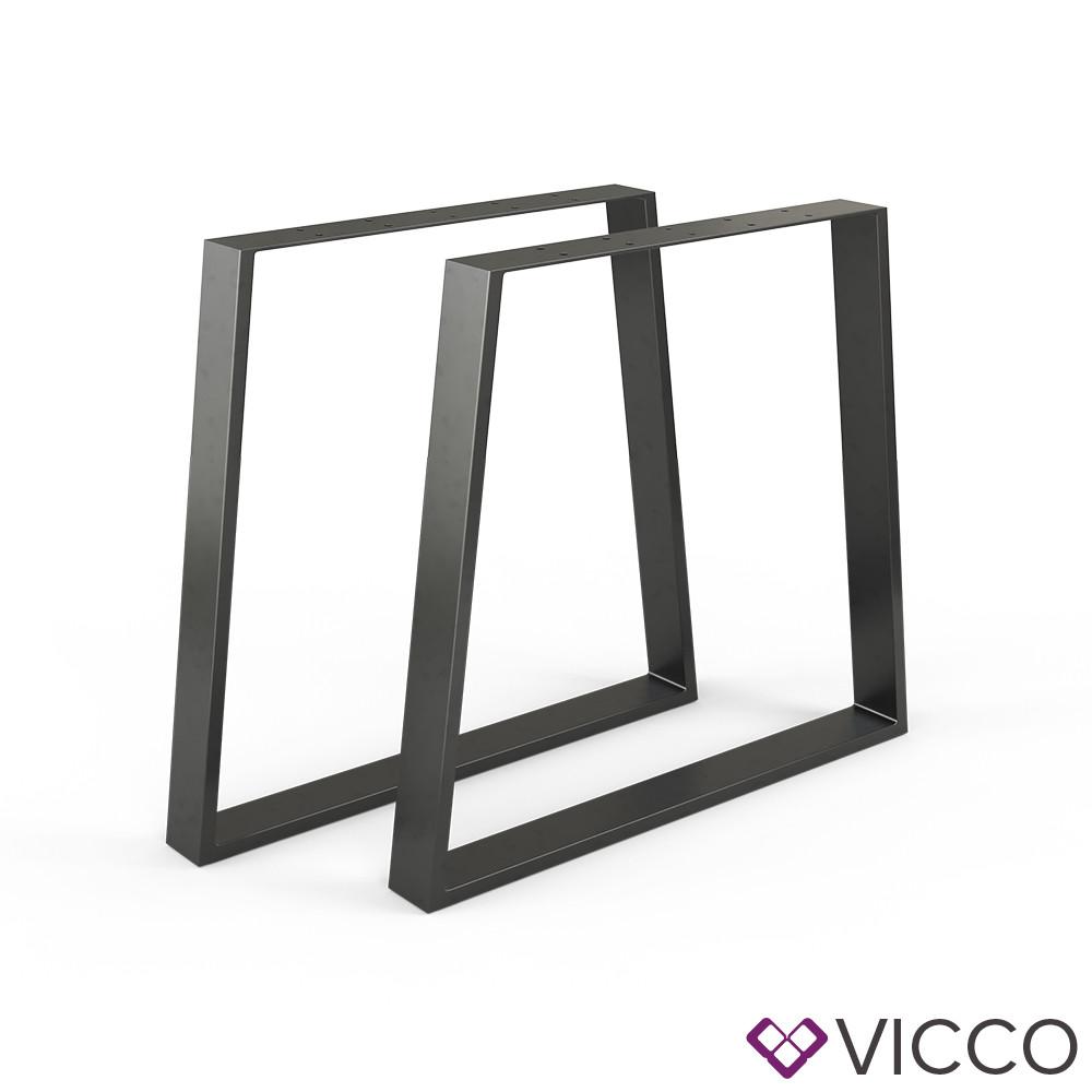 Опори для столу лофт 80x72 Vicco 2шт, трапеція, чорні