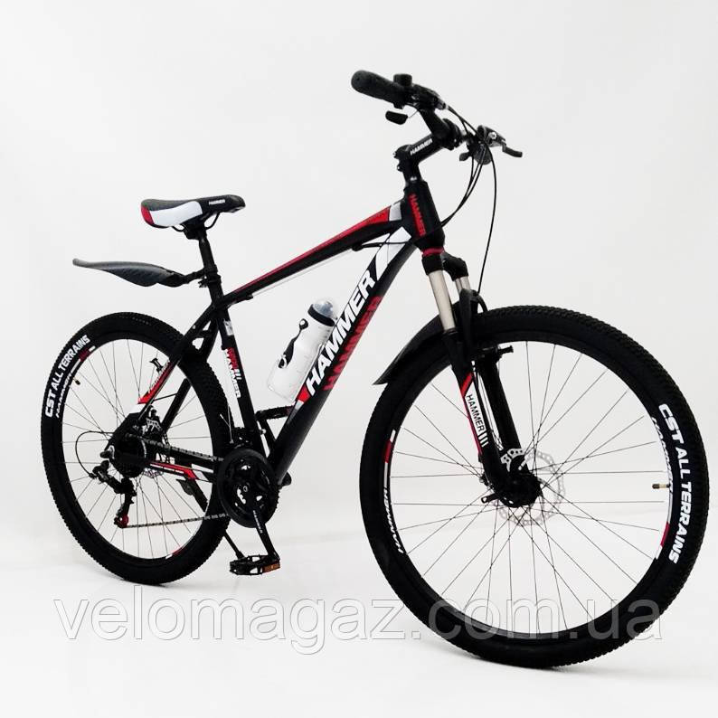 """Стильний спортивний алюмінієвий велосипед S200 Колеса 27.5*2,25, рама 19"""", чорно-червоний"""