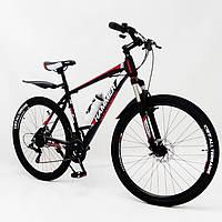"""Стильний спортивний алюмінієвий велосипед S200 Колеса 27.5*2,25, рама 19"""", чорно-червоний, фото 1"""