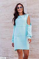Эффектное короткое женское платье свободного кроя в спортивном стиле  р-ры 42-46 арт.  493