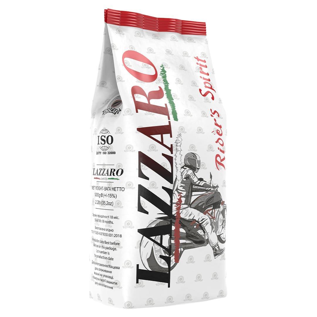 Кава в зернах Lazzaro rider's Spirit 1 кг