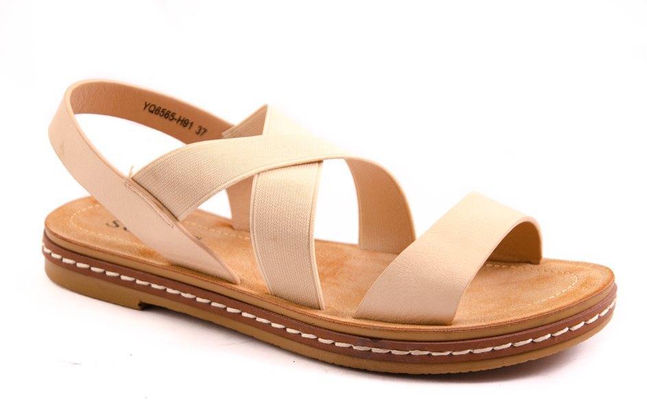 Босоножки женские бежевые All Shoes 160310