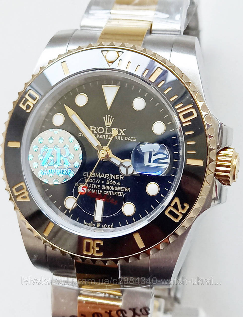 Годинник Rolex Submariner біколор.механіка.клас ААА