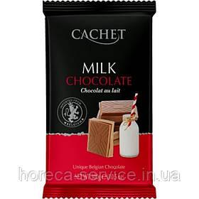 Бельгійський молочний шоколад Cachet 32% какао 300 г.