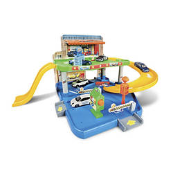 Игрушечный Гараж для машинок (2 уровня, 1 машинка 1:43), Bburago