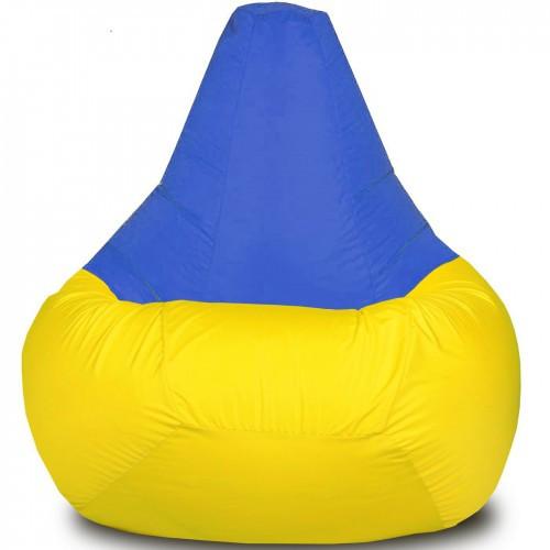 Кресло-груша Желто-синяя Детская 60х90