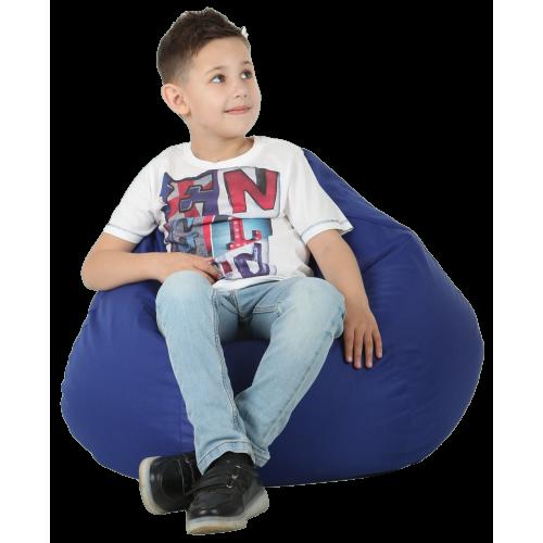 Кресло-груша Синяя Детская 60х90