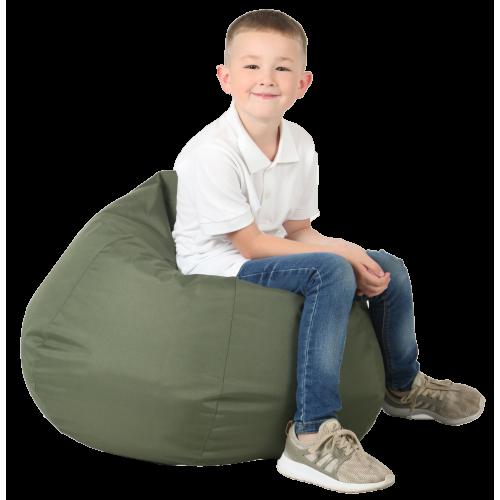 Крісло-груша Хакі Дитяча 60х90