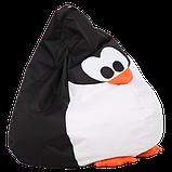 Крісло-груша Пінгвін Чорний Дитяча 60х90, фото 2