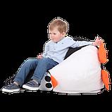 Крісло-груша Пінгвін Чорний Дитяча 60х90, фото 3