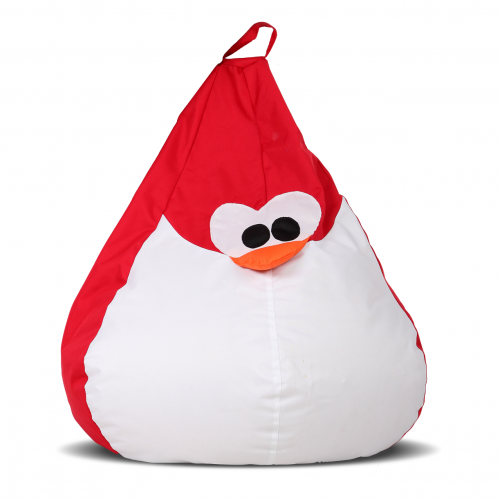 Крісло-груша Королівський Пінгвін Червоний Дитяча 60х90