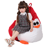 Крісло-груша Королівський Пінгвін Червоний Дитяча 60х90, фото 2