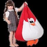 Крісло-груша Королівський Пінгвін Червоний Дитяча 60х90, фото 3