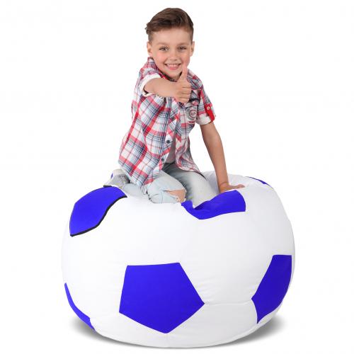 Крісло-м'яч Білий з синім Дитячий 70х70
