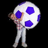 Крісло-м'яч Білий з синім Дитячий 70х70, фото 2