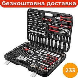 Комбинированный набор инструментов 233 ед. INTERTOOL STORM ET-8233, набор автослесарного инструмента для дома