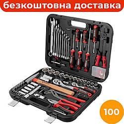 Комбинированный набор инструментов 100 ед. INTERTOOL STORM ET-8100, набор автослесарного инструмента для дома