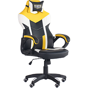 Кресло VR Racer Dexter Jolt черный/желтый TM AMF