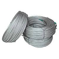 Трос сталевий оцинкований ISO 2408 (6х12) 4 мм 100 м