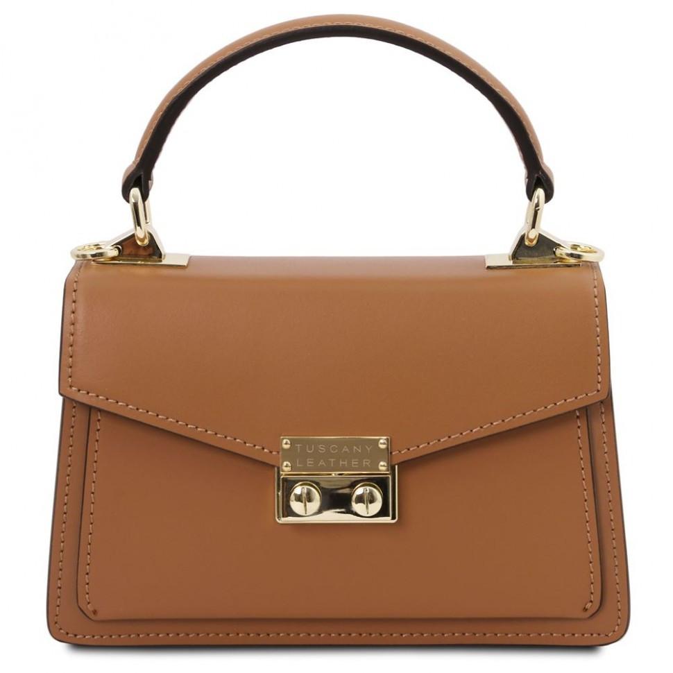 Сумочка женская TL BAG LEATHER MINI BAG Tuscany Leather TL141994 (Cognac - коньячный)
