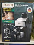 Кофеварка рожковая Espresso Rainberg RB-8111 с капучинатором, фото 2
