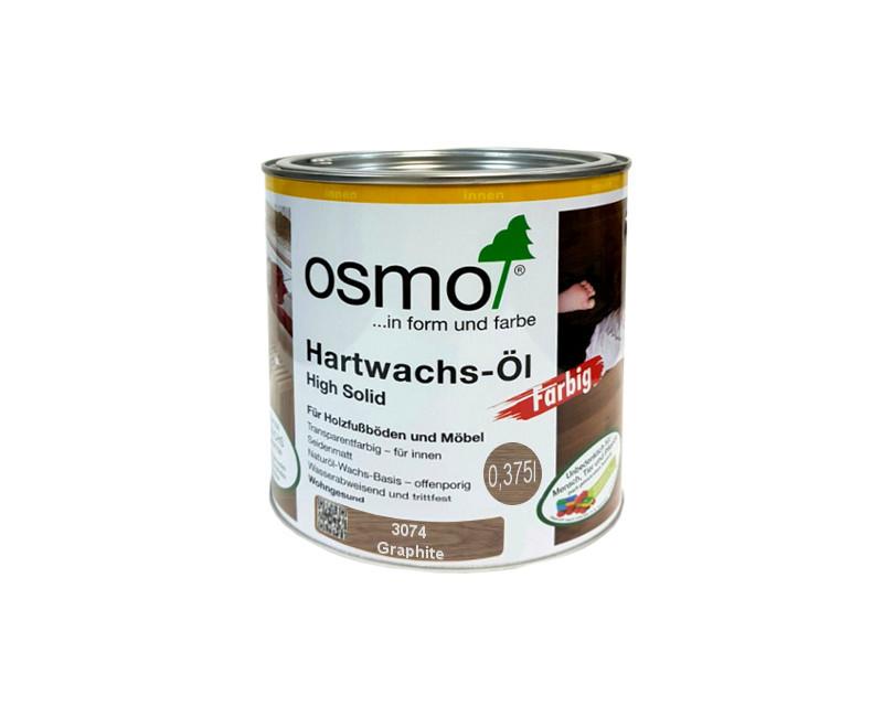 Масло с твердым воском OSMO HARDWACHS-OL FARBIG  для пола и изделий из древесины 3074 - графит 0,375л