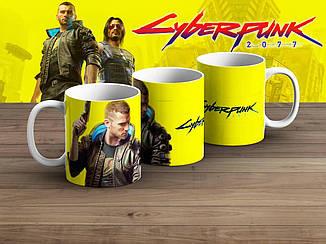 """Чашка Киберпанк 2077 """"Желтая""""/ Cyberpunk 2077"""