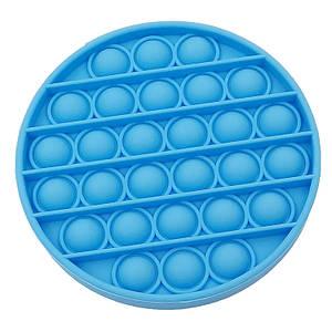 Іграшка антистрес з кульками всередині Pop it для дітей (блакитний круг)