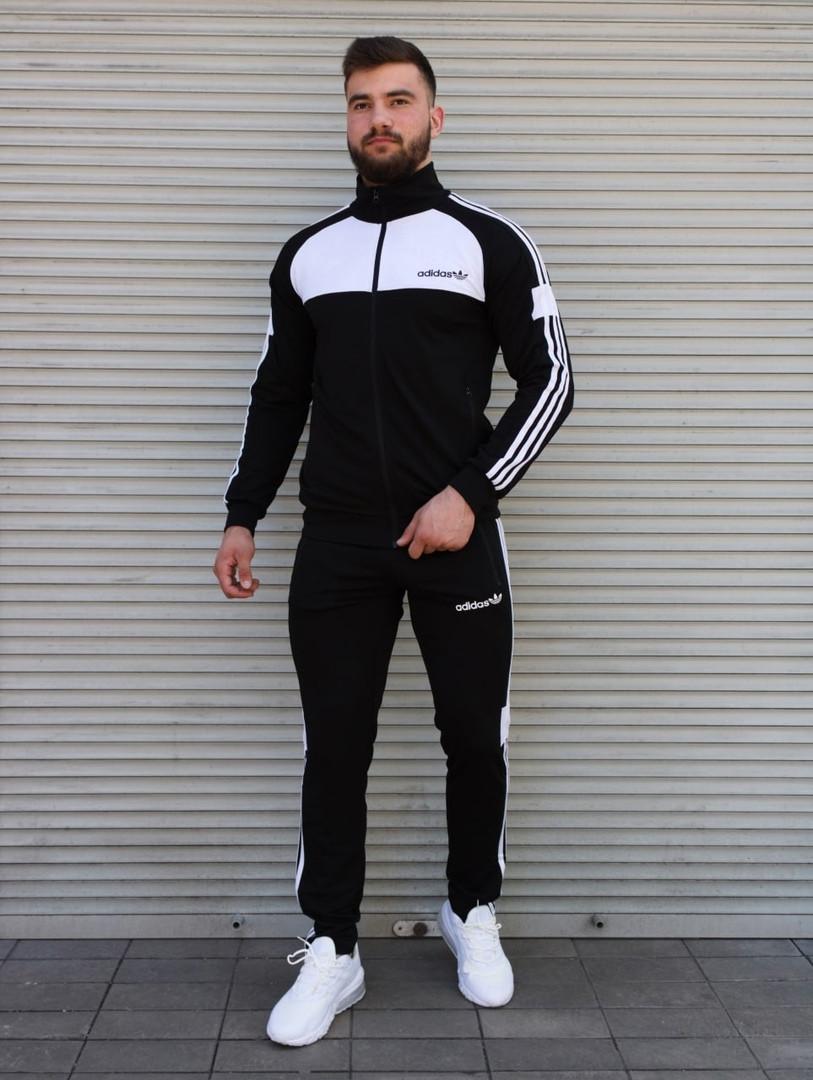Чоловічий спортивний костюм чорно-білий Сл 2008