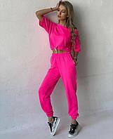 Костюм женский летний топ-футболка и штаны, фото 1