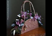 Новогодняя композиция в сумочке -новогодний подарок для стильных