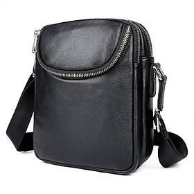 Мужская кожаная сумка мессенджер JD1053AS John McDee
