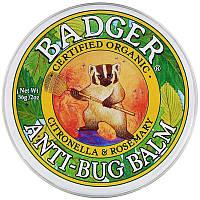 Badger Company, Бальзам для захисту від комах з цитронеллой і розмарином, 21 г Бальзам защита о насекомых